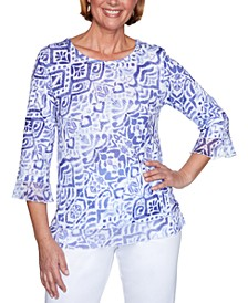 Costa Rica Printed Knit Top