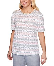 Primrose Garden Chevron Knit Top