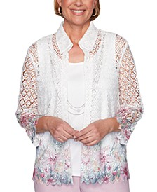 Petal Pushers Floral Embroidered Top