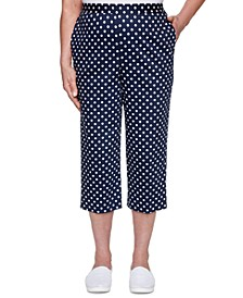 Ship Shape Dot-Print Pull-On Capri Pants