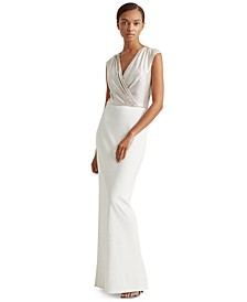 Two-Tone Jersey Gown