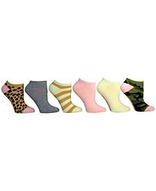 Women's 6-Pk. Printed & Solid Low-Cut Socks