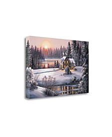 Winter Sunset by Dubravko Raos Fine Art Giclee Print on Gallery Wrap Canvas
