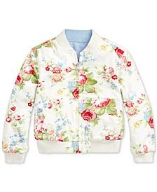 폴로 랄프로렌 여아용 옥스포드 자켓 Polo Ralph Lauren Toddler Girls Reversible Oxford Jacket,Cream Multi