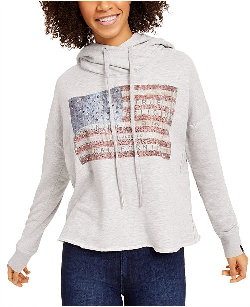 True Religion Embellished Graphic Sweatshirt