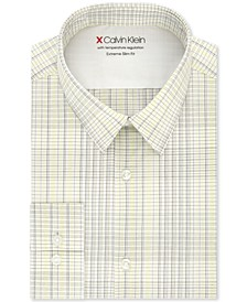 Men's Extra-Slim Fit Multi-Check Dress Shirt
