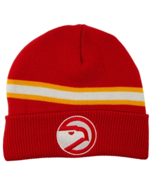 Mitchell & Ness Atlanta Hawks Hwc Retro Stripe Knit Hat