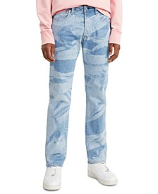Men's 501 Original Fit Laser Print Stretch Jeans
