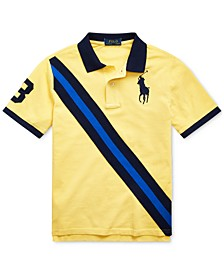 Big Boys Big Pony Cotton Mesh Polo