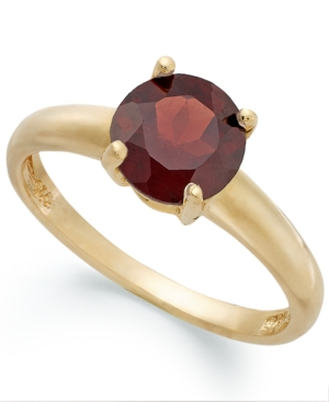 Victoria Townsend 18k Gold over Sterling Silver Ring, Garnet January Birthstone Ring (1-1/2 ct. t.w.)
