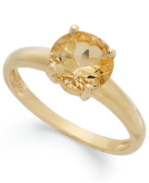 Victoria Townsend 18k Gold over Sterling Silver Ring, Citrine November Birthstone Ring (1-1/3 ct. t.w.)
