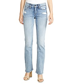 Suki Slim-Fit Mid-Rise Bootcut Jeans