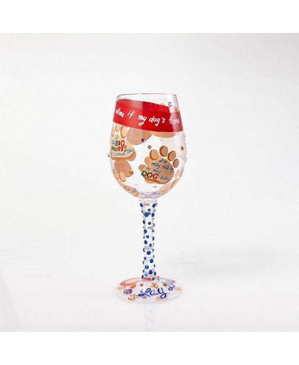 Enesco LOLITA Love My Dog Wine Glass