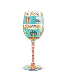 LOLITA Flip Flop Days Wine Glass