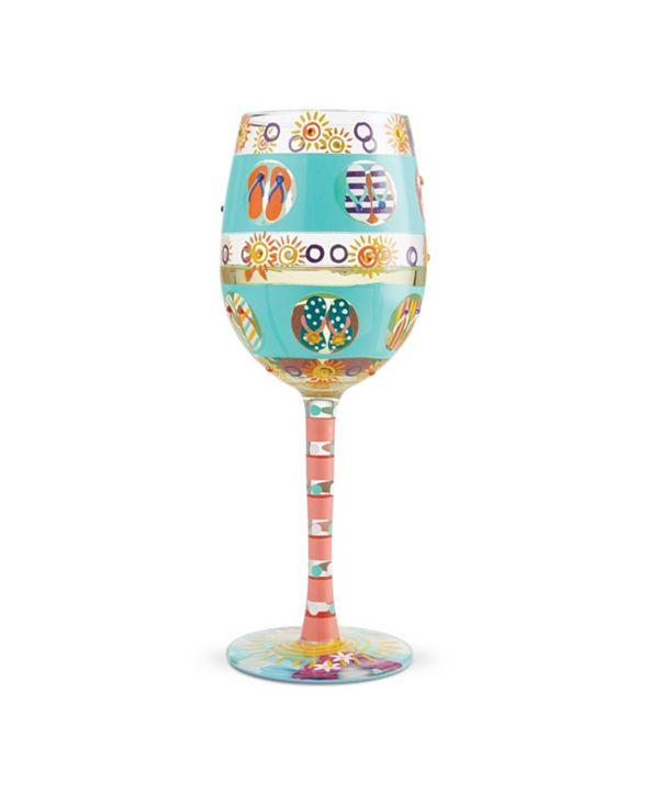 Enesco LOLITA Flip Flop Days Wine Glass