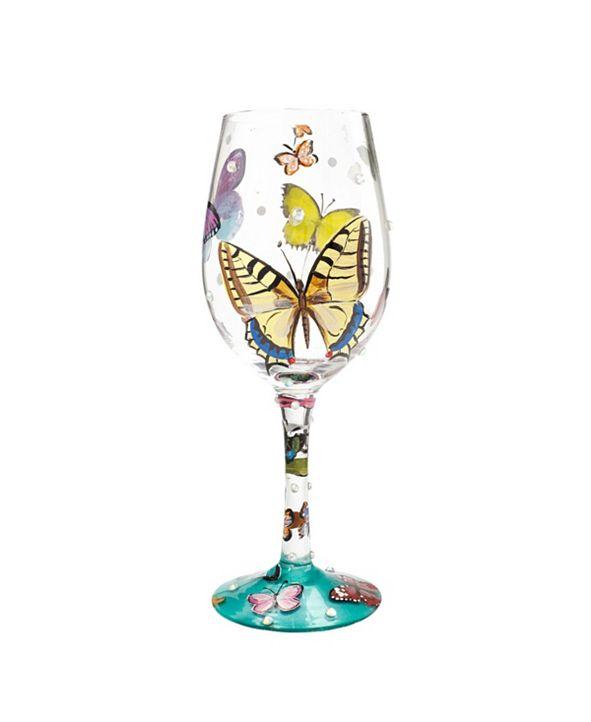 Enesco LOLITA Butterfly Wishes Wine Glass