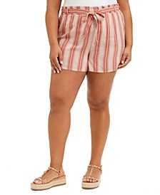 Trendy Plus Size Striped Shorts