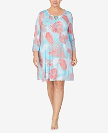 Plus Size Pajama Tunic, Online Only