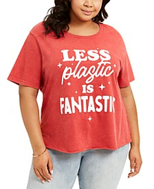 Trendy Plus Size Less Plastic T-Shirt