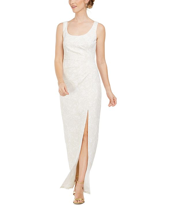 Adrianna Papell Stretch Jacquard Gown