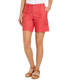 Petite Cotton Chambray Shorts, Created for Macy's