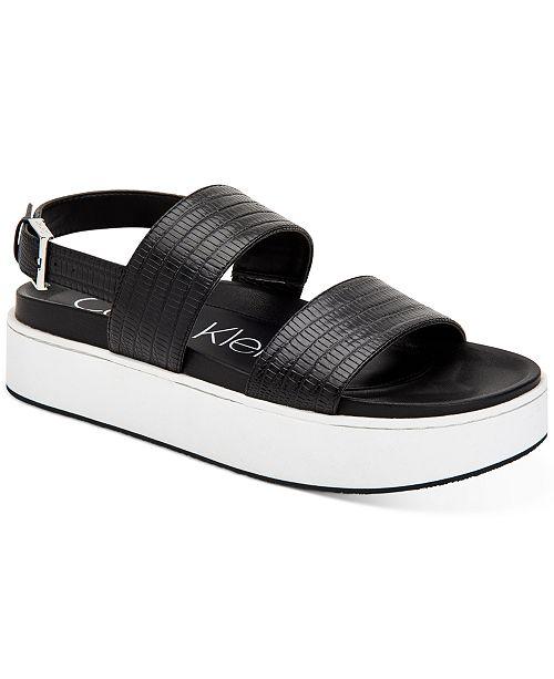 Calvin Klein Women's Jolie Platform Sandals