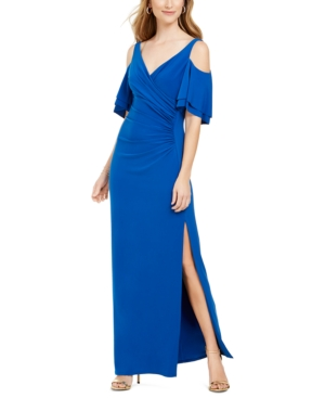 Msk Cold-Shoulder Gown