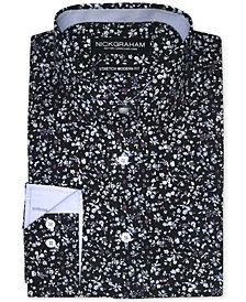 Nick Graham Men's Modern-Fit Ditsy Floral Print Dress Shirt