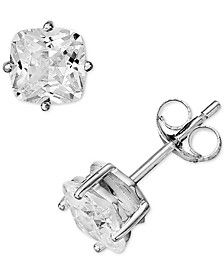 Cubic Zirconia Cushion Stud Earrings in Sterling Silver, Created for Macy's