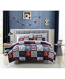 MHF Home Kids Sports Fan Full Comforter Set