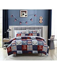 MHF Home Kids Sports Fan Full Comforter Set