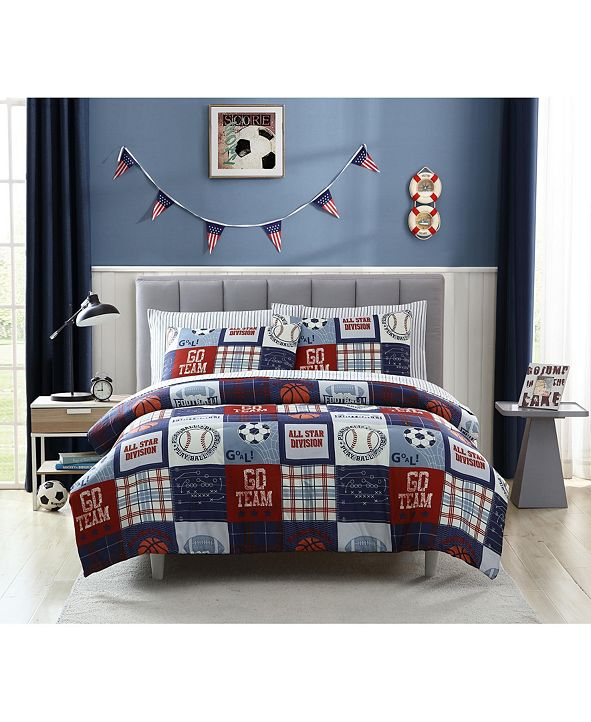Morgan Home MHF Home Kids Sports Fan Full Comforter Set