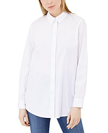 Split-Back Poplin Shirt