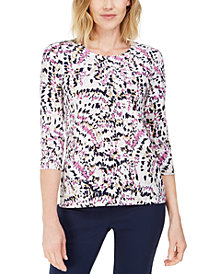 JM Collection Printed Gel-Dot Top, Created for Macy's