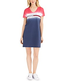 Cotton Ombré Logo T-Shirt Dress