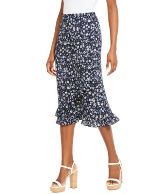 Ladies Skirt Hounds Tooth Tartan Printed Office Band Bodycon Pencil Midi Skirts