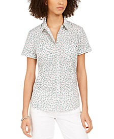 Cotton Printed Camp Shirt