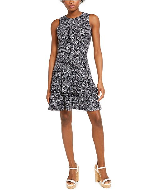 Michael Kors Boutique Blooms Flounce Dress, In Regular and Petite