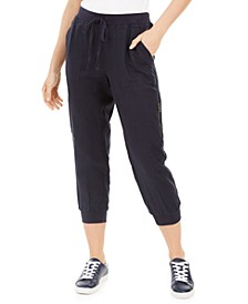 Cropped Drawstring Joggers