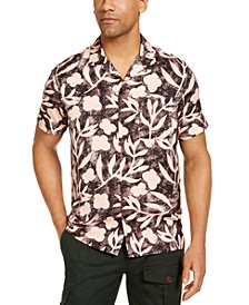 INC Men's Tropical Camp Collar Shirt, Created for Macy's