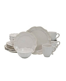 Alyse White 16-PC Dinnerware Set, Service for 4