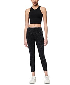 Cropped Seamed Active Leggings