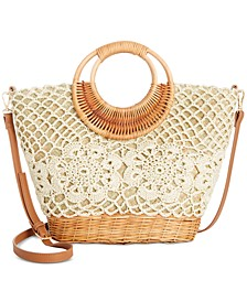 INC Cindyy Crochet Wicker Crossbody, Created For Macy's