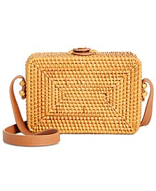 INC Oliviaa Rattan Rectangle Crossbody, Created For Macy's