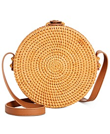 INC Aniqaa Rattan Circle Crossbody, Created For Macy's