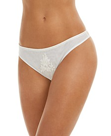 INC Women's Embroidered Thong Underwear, Created for Macy's