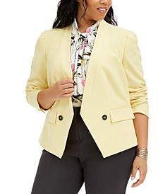 Trendy Plus Size Open-Front Jacket, Created for Macy's