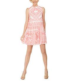 Calvin Klein Petite Bandana-Print Mini Dress