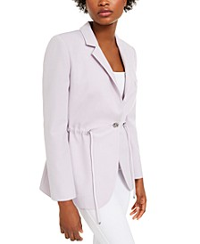 Drawstring Blazer Jacket