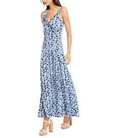 Floral-Print Ruffled Maxi Dress